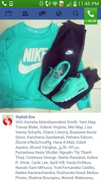 shoes turquoise nike sweater turquoise nike air max turquoise