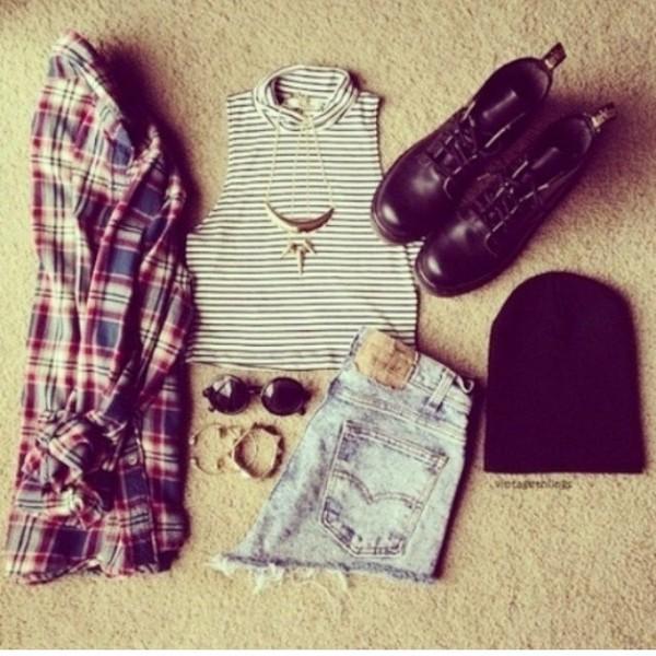shorts tank top t-shirt blouse