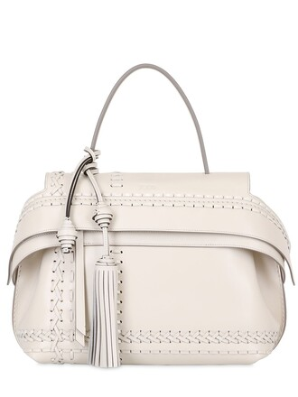 bag leather white