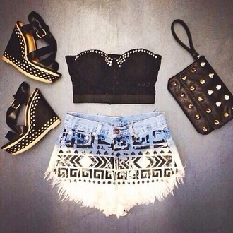 shoes love more bag tank top shorts top