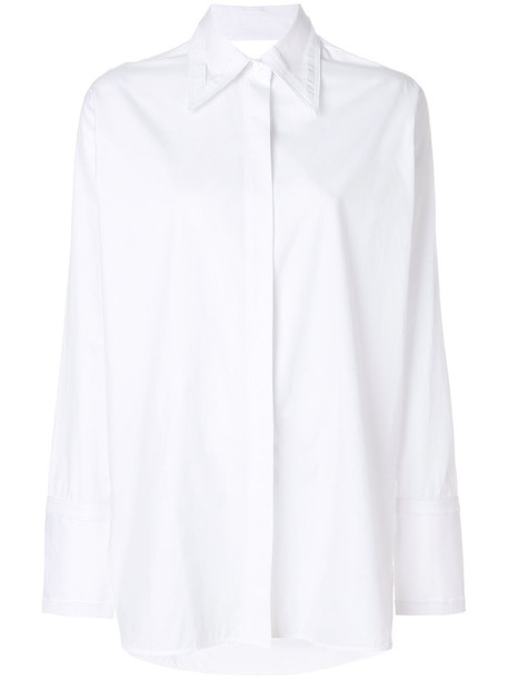 Helmut Lang shirt women white cotton top