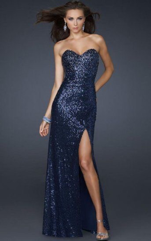 Dark Blue Pageant Dresses