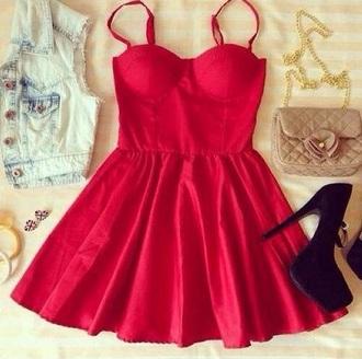 dress mini dress red luxurious fashion trendy amazing
