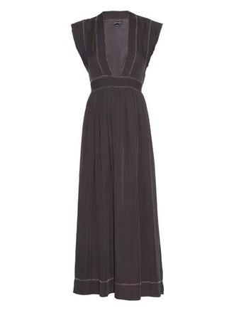 dress maxi dress maxi beaded silk black