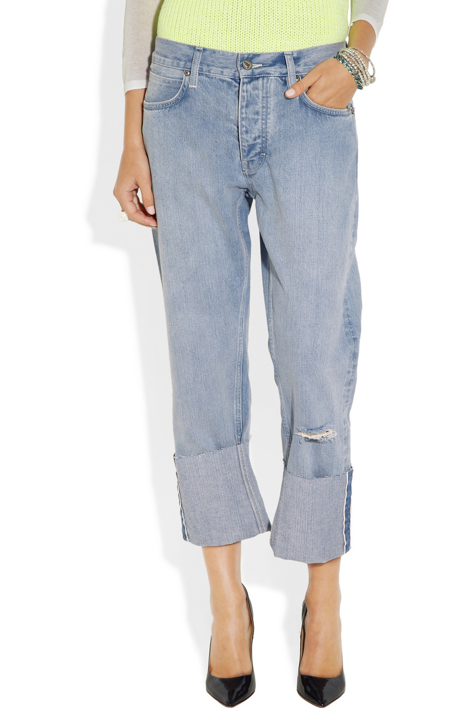 MiH Jeans Phoebe mid-rise boyfriend jeans – 55% at THE OUTNET.COM