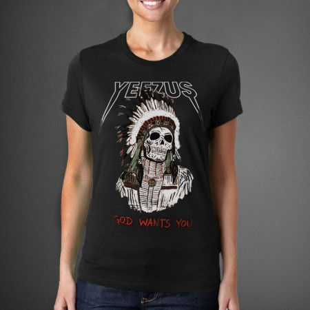 Ladies Red Indian Skeleton Yeezus Tour T-Shirt - WEHUSTLE | MENSWEAR, WOMENSWEAR, HATS, MIXTAPES & MORE