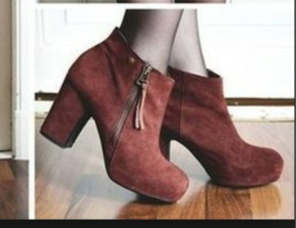 shoes chaussures talons boots rouge franges bottine