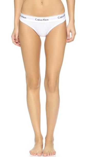Calvin Klein Underwear Modern Cotton Thong - White