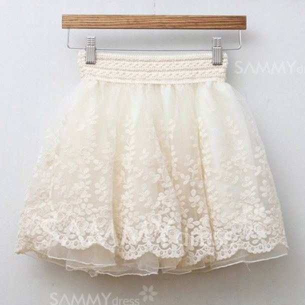 White short lace skirt – Modern skirts blog for you