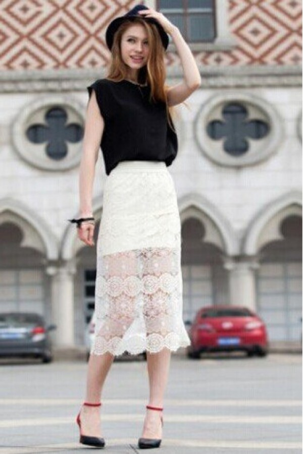 skirt lace skirt white skirt crochet skirt crochet lace skirt white lace skirt kcloth skirt kcloth
