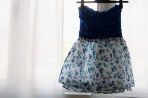 blue dress flowers