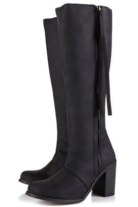Chicago side zip high leg boots