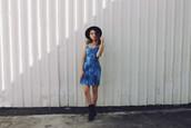 views of now,blogger,hat,summer dress,tie dye