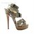 Best Price Authentic Christian Louboutin Toutenkaboucle 150 Suede Buckle Gray Sandals Sale