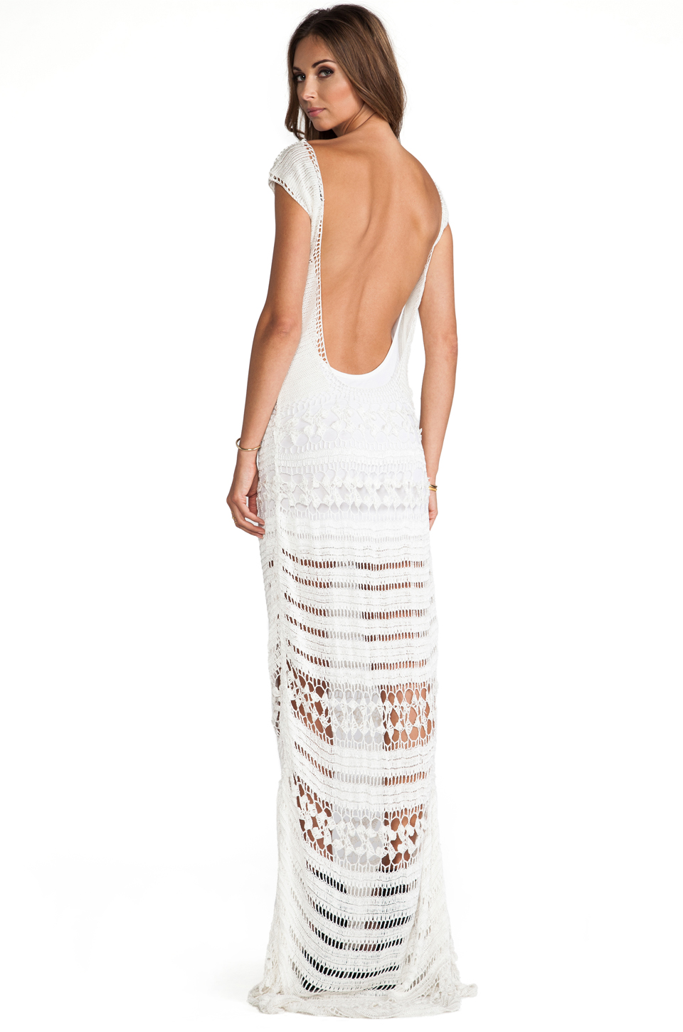 Lovers   friends farah crochet maxi dress in white from revolveclothing.com