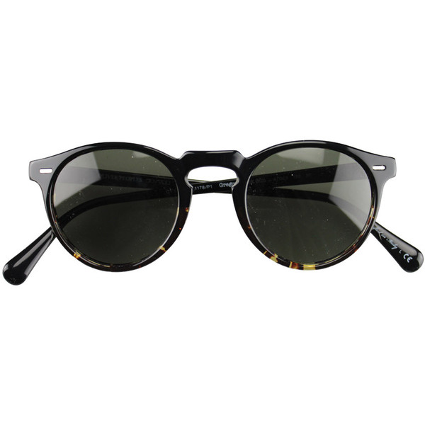 Oliver Peoples Gregory Peck tortuoise sunglasses - Polyvore