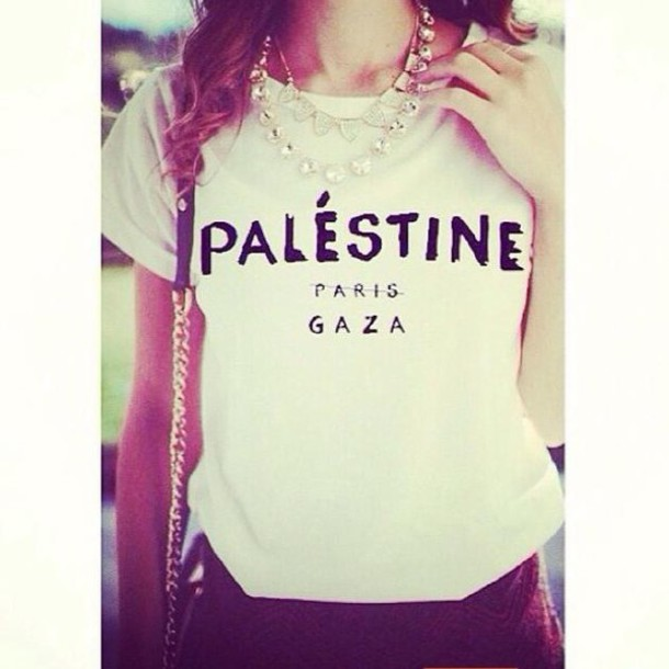 celine phantom bag look alike - T-shirt: palestine, gaza, celine paris shirt, celine, white, t ...