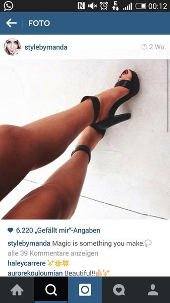 shoes black heels black