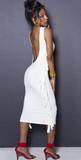 Off white iammi deep backless fringe dress (c)