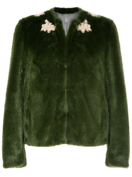 Shrimps coat faux fur coat fur coat fur faux fur women green