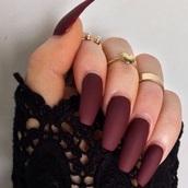nail polish,burgundy,nails,ring,matte nail polish,matte