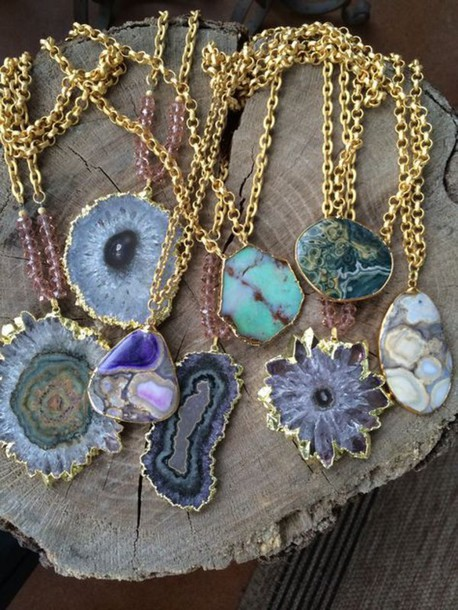 jewels jewelry necklace tiger rose jewelry raw stone stone necklaces boho boho chic boho jewelry