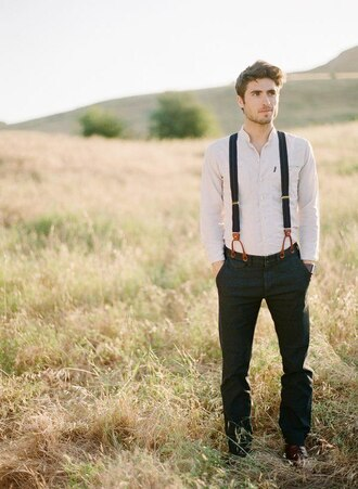 clothes jeans wedding suspenders swag south shirt menswear