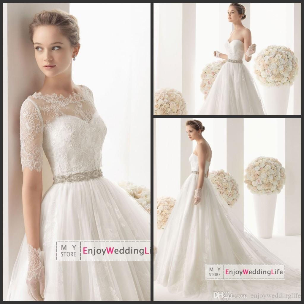 Wholesale A Line Wedding Dresses Buy Free Lace Bolero Elegant A