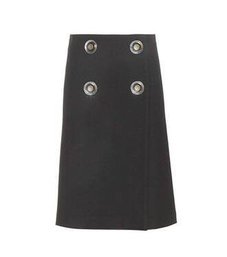 skirt wool black