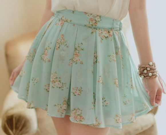 skirt pastel cute floral skirt pastel blue floral cute skirts floral mint pink flowers liberty blue skirt floral skirt high waisted skirt