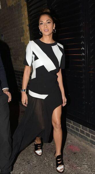 dress asymmetrical dress nicole scherzinger asymmetrical black and white dress high low dress