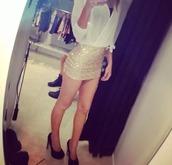 skirt,tube skirt,skater skirt,dress,party,girly,elegance,blouse,gloves,shoes