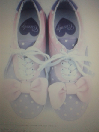 shoes pink purple lolita fairy kei cute ribbons polka dots