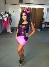 shoes,leopard print,heels,bow,snooki,pink,dress