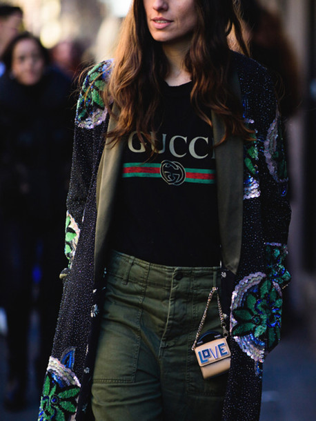 5823b047c t-shirt, tumblr, black t-shirt, logo tee, logo, gucci, coat, printed ...