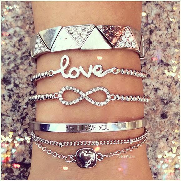 jewels infinity sparkles bracelets bracelet chains