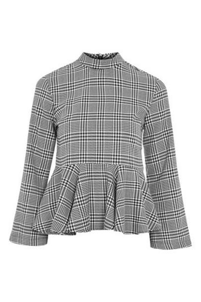 Topshop blouse grey top