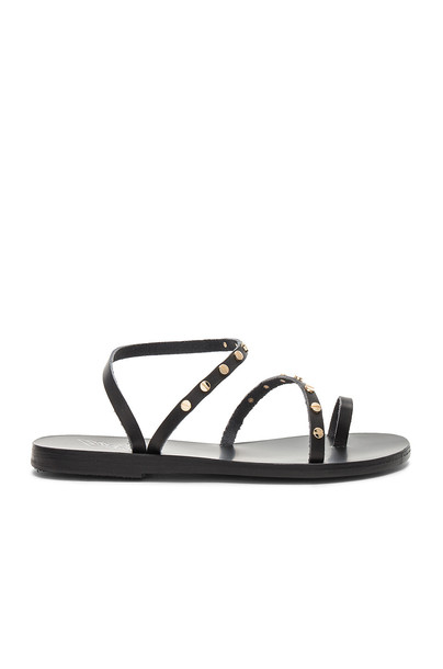 Ancient Greek Sandals nails black shoes