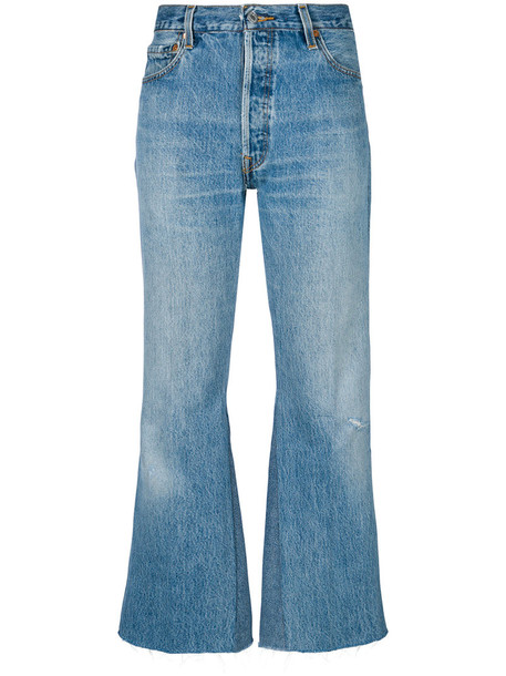 Re/Done jeans flare jeans flare women cotton blue