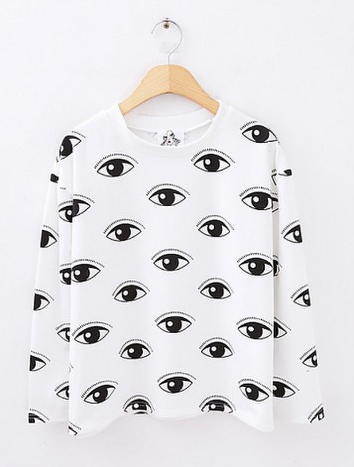 Lovely big eyes sweater/loose long sleeves pullover/ Free shipping/ BE104-in Hoodies & Sweatshirts from Apparel & Accessories on Aliexpress.com