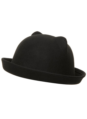 Black ear bowler hat - View All New In   - New In  - Dorothy Perkins