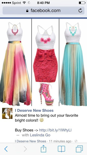 skirt blue and brown skirt