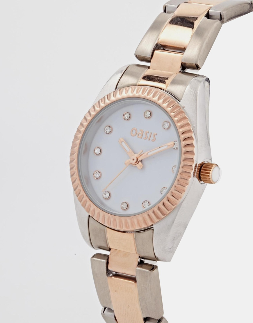 Oasis White Face Watch at asos.com