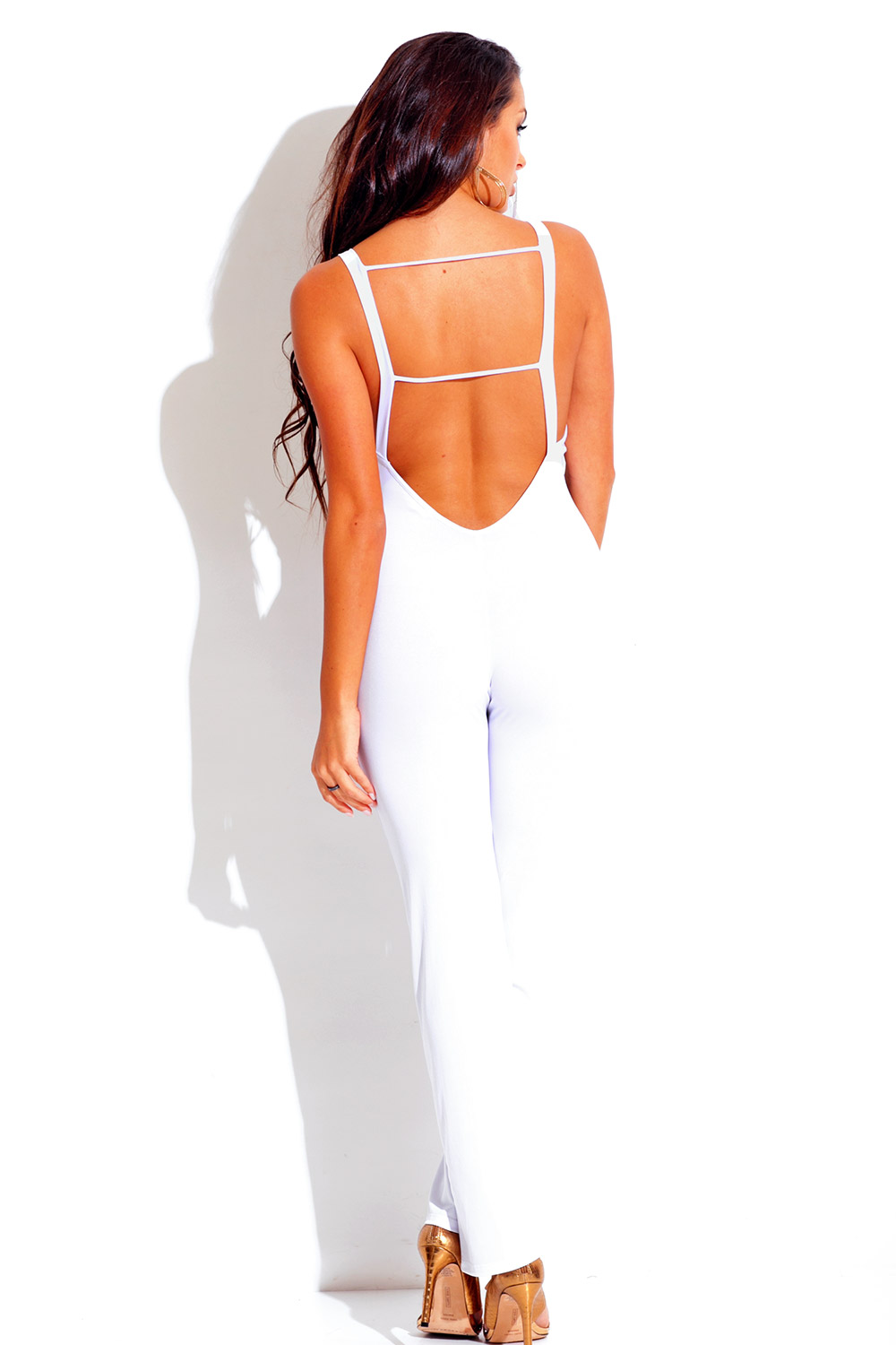 white backless caged cut out fitted bodycon evening clubbing ...