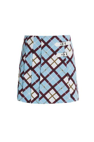skirt plaid mini multicolor