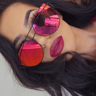sunglasses pink accessories dope trendy red fashion toast fashion vibe dior summer