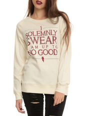 top,harry potter,solemnly swear,pullover,reversible pullover,juniors pullover,hogwarts