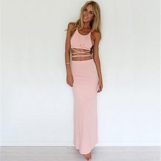 dress backless dress backless top two pieces dres mecca maxi dress pink maxi dress