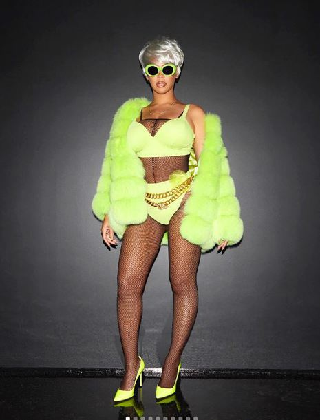 top bra neon pumps fur jacket beyonce halloween halloween costume instagram tights