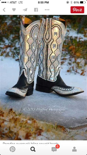 shoes sequins cowgirl boots country style boots